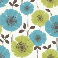Teal and Pink Flower Backgrounds | ... Fine Decor  View ...