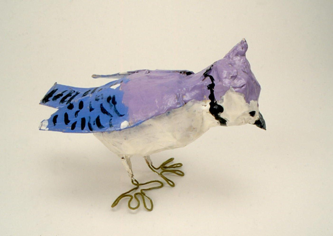 Paper Bird Sculpture Paper Mache Birds Blue Jay Age 9 Sculpture Ideas
