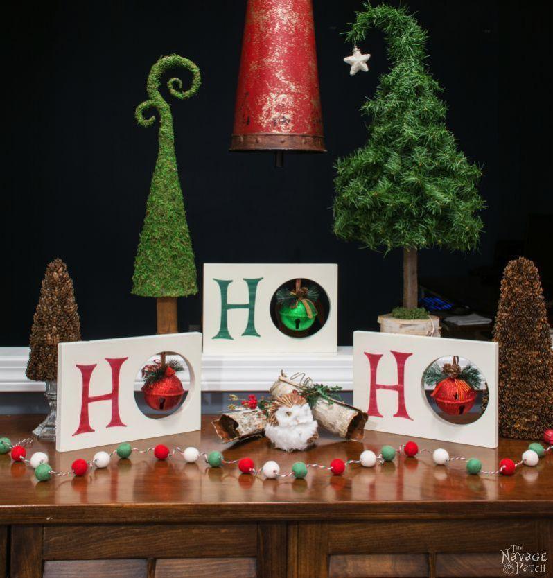 Diy Christmas decoration HO HO HO Christmas decor Dollar Store - how to store christmas decorations