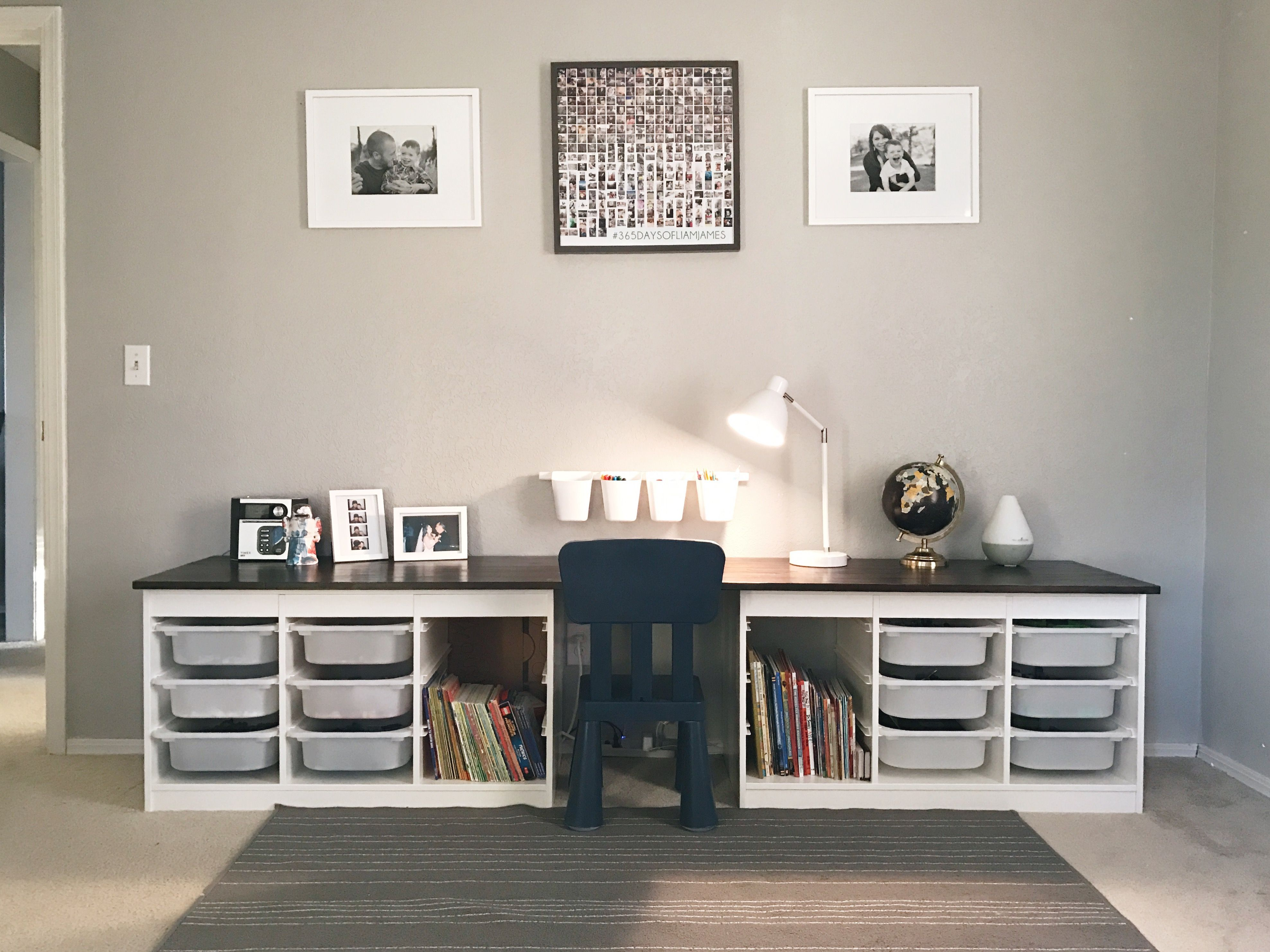 Kinderhoek Ikea Children's Desk. Ikea Trofast Hack - Home Deco | Pinterest