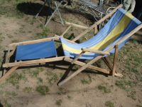 french antique beach chair old wood canvas lawn by ...