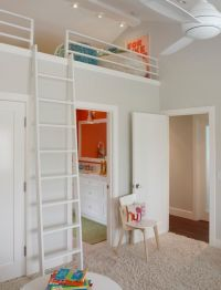 kids bedrooms with lofts | Kids room w loft bed over ...