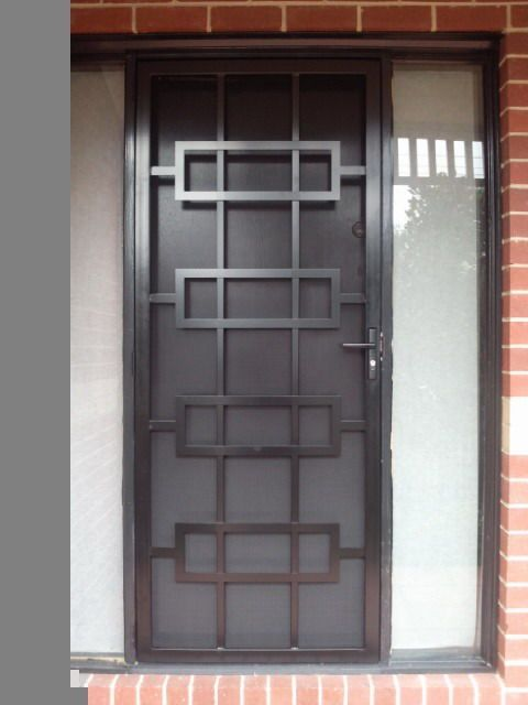 unique blasck colored security door with minimalist crafts with - unique home designs security doors