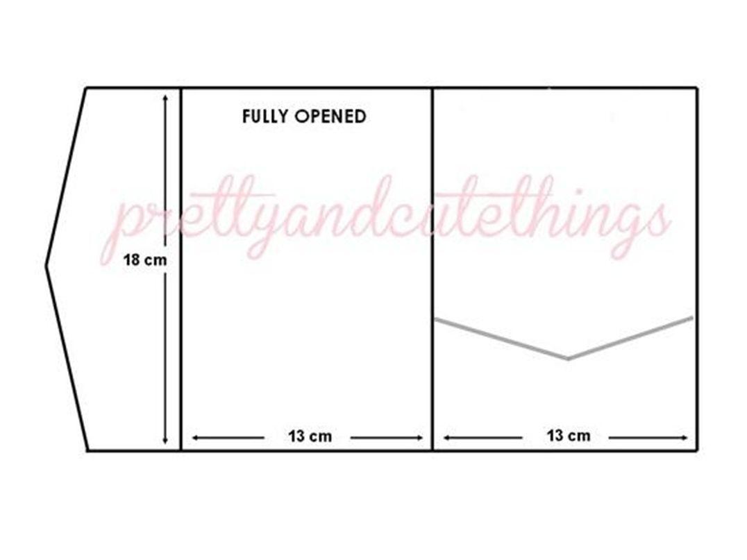 wedding invitation envelopes Ivory Cream Vintage Wedding Invitations DIY Pocket Fold Envelopes Card Sleeve eBay