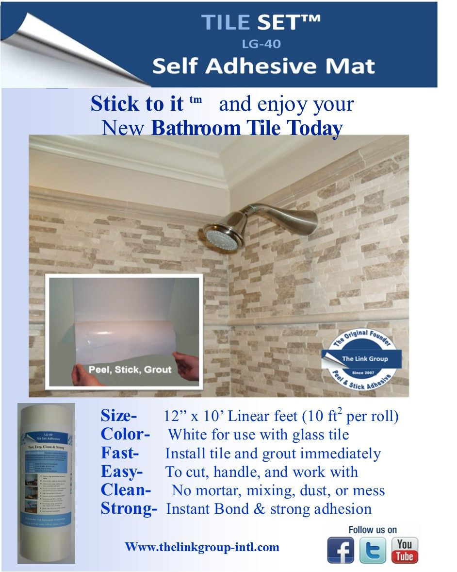 Shower wall tile installation.