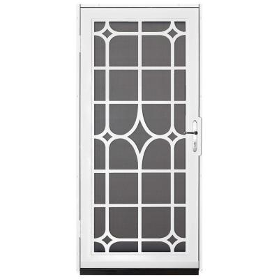 Unique Home Designs 36 in x 80 in Lexington White Surface Mount - unique home designs security doors