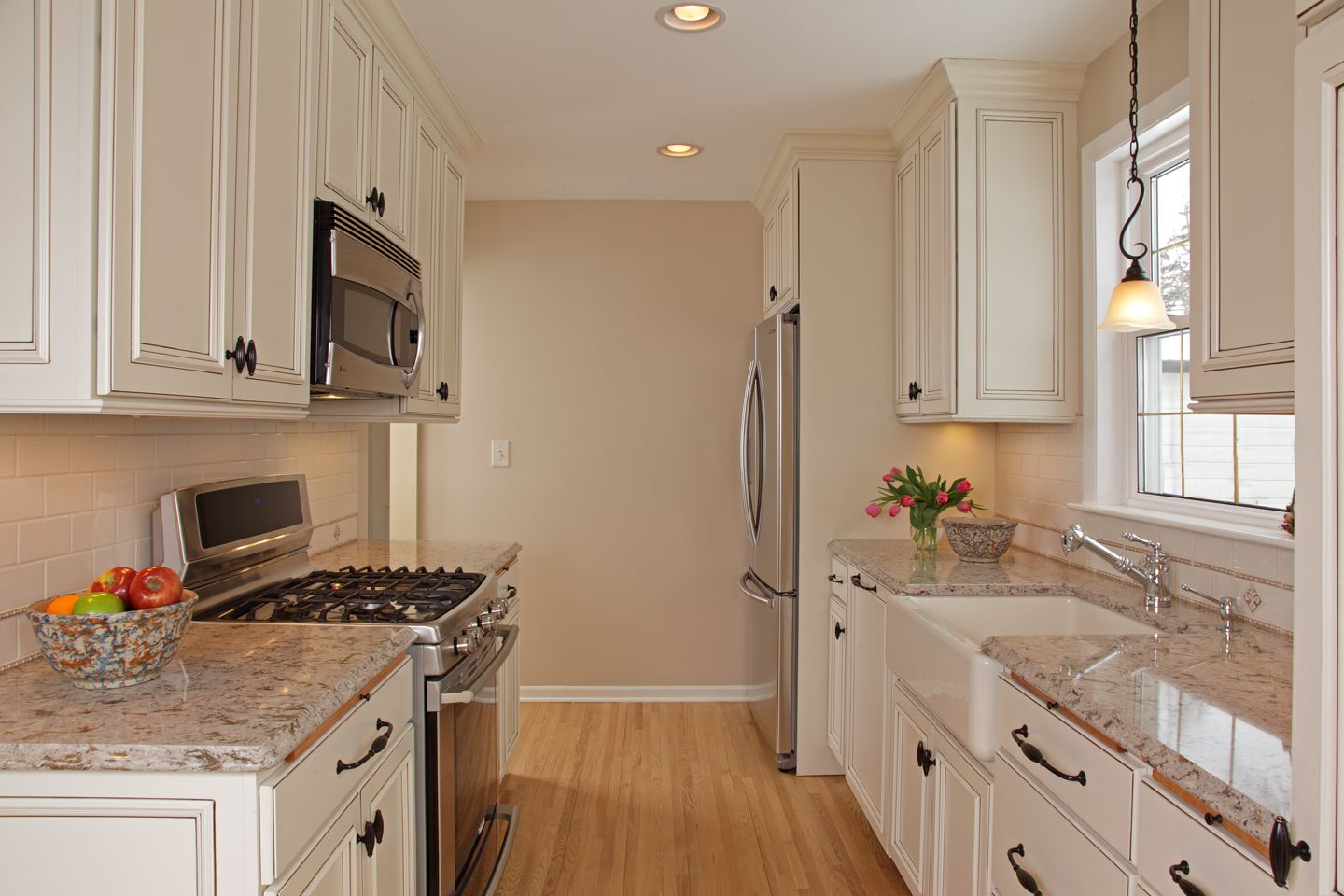 Stainless Steel Cabinets And Countertops Farmhouse Kitchen Sink Granite Countertops White