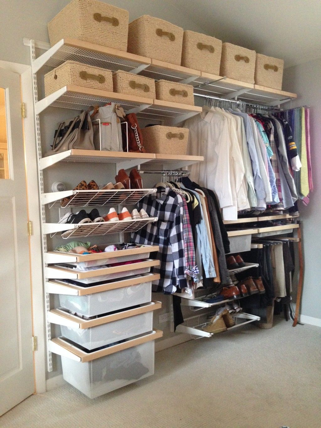Elfa Storage System Lowes Closet Systems With Dazzling Decorating Ideas