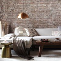 Stunning Exposed Brick Interior Walls Design For Living
