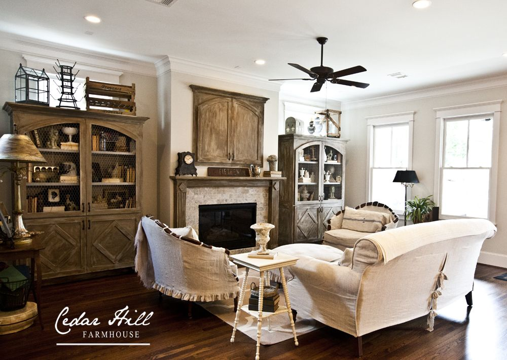 Country French farmhouse style home tour Living rooms, Linens - french style living room