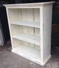 Bookcase cream distressed shabby chicREADY TO by ...