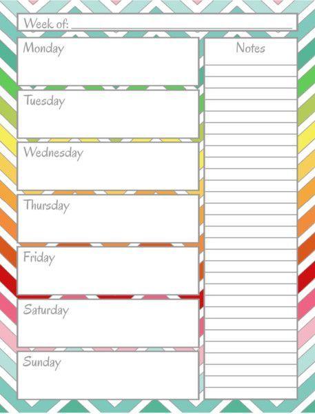 FREE PRINTABLE Home Management Binder - Weekly Calendar great - free weekly calendar