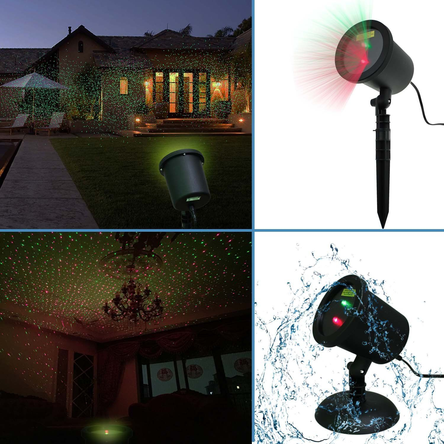 Projecteur Led Exterieur Noel Amazon Amazon Waterproof Red And Green Laser Light Sparkling