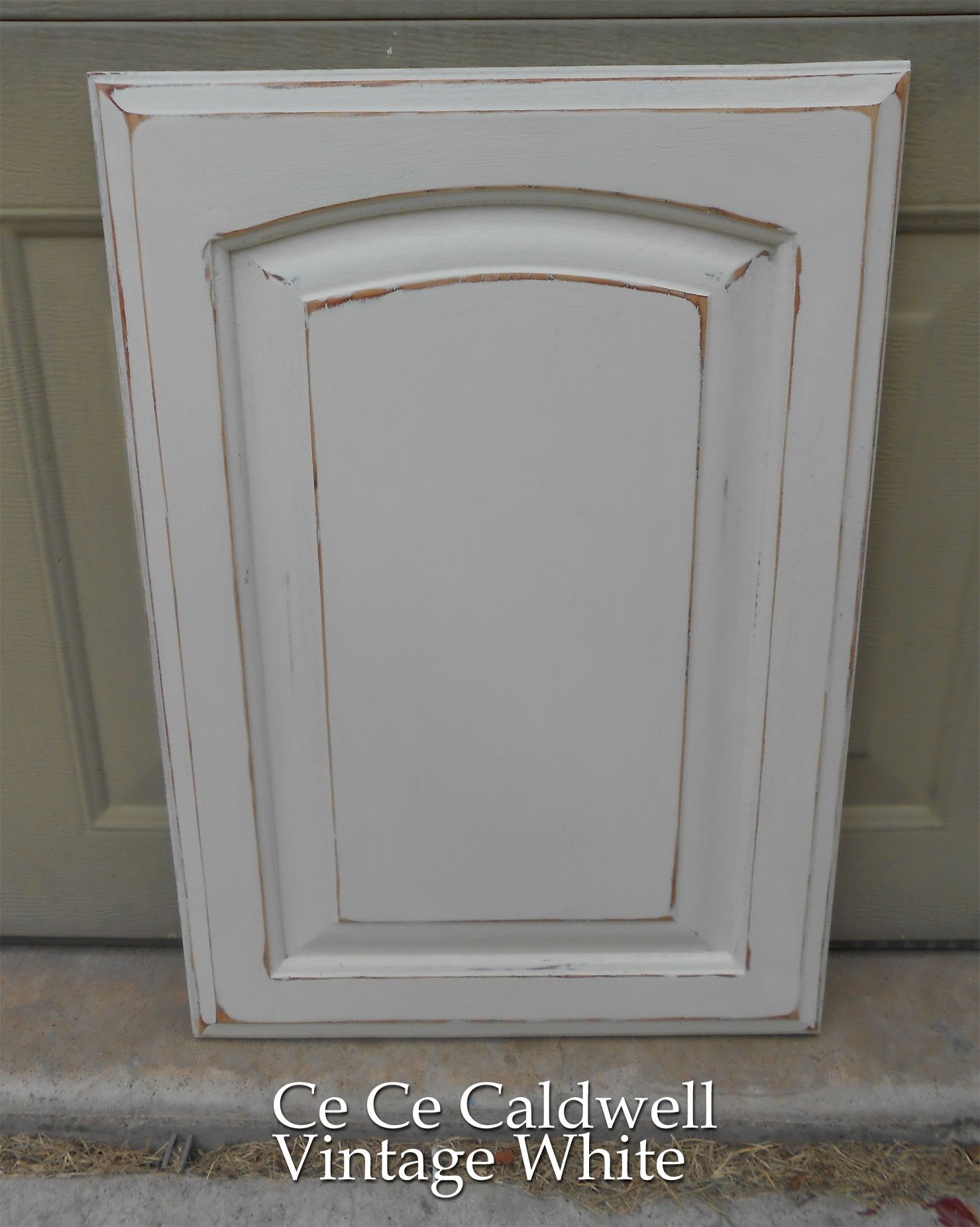 painting kitchen cabinets white Using Chalk Paint for Oak Kitchen Cabinets test door