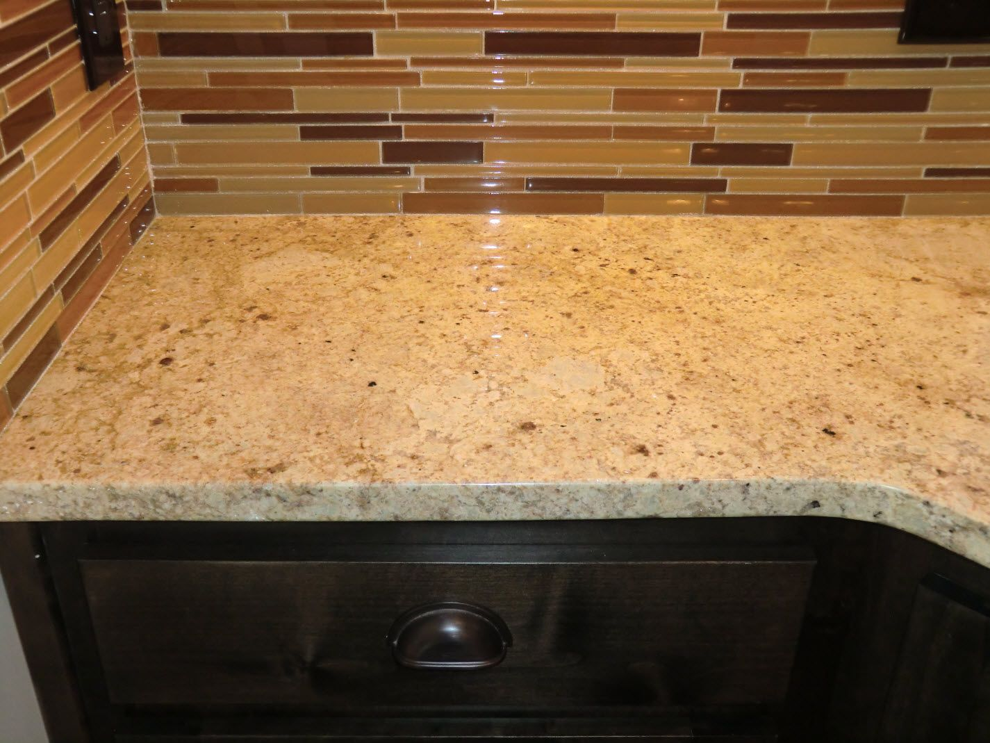 granite countertops with glass tile backsplash glass kitchen countertops 17 Best Images About Back Splash On Pinterest Kitchen Backsplash
