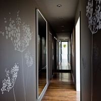 White Tree Murals in Contemporary Hall - Wallpaper Mural ...