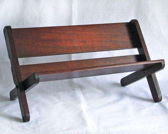 Vintage Book Trough Wooden Tabletop Bedside Table