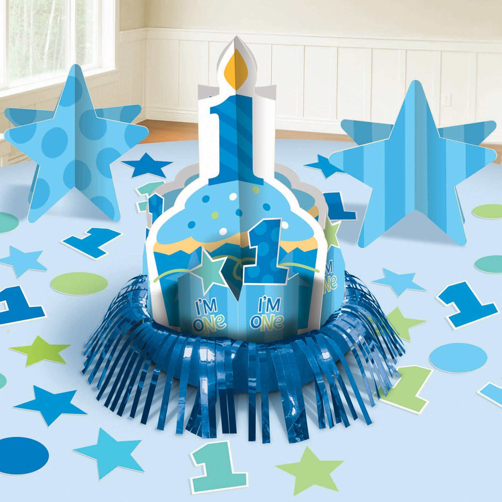 First birthday boy table decorating kit 76995