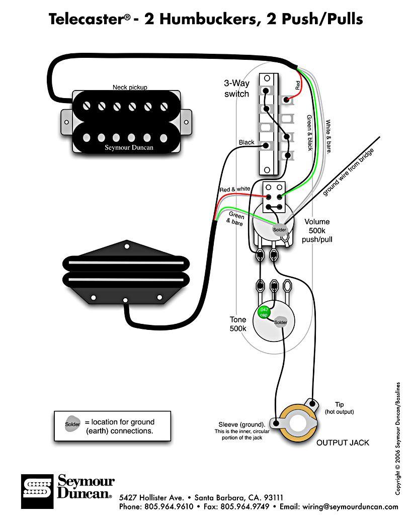 paralel humbucker wiring diagram