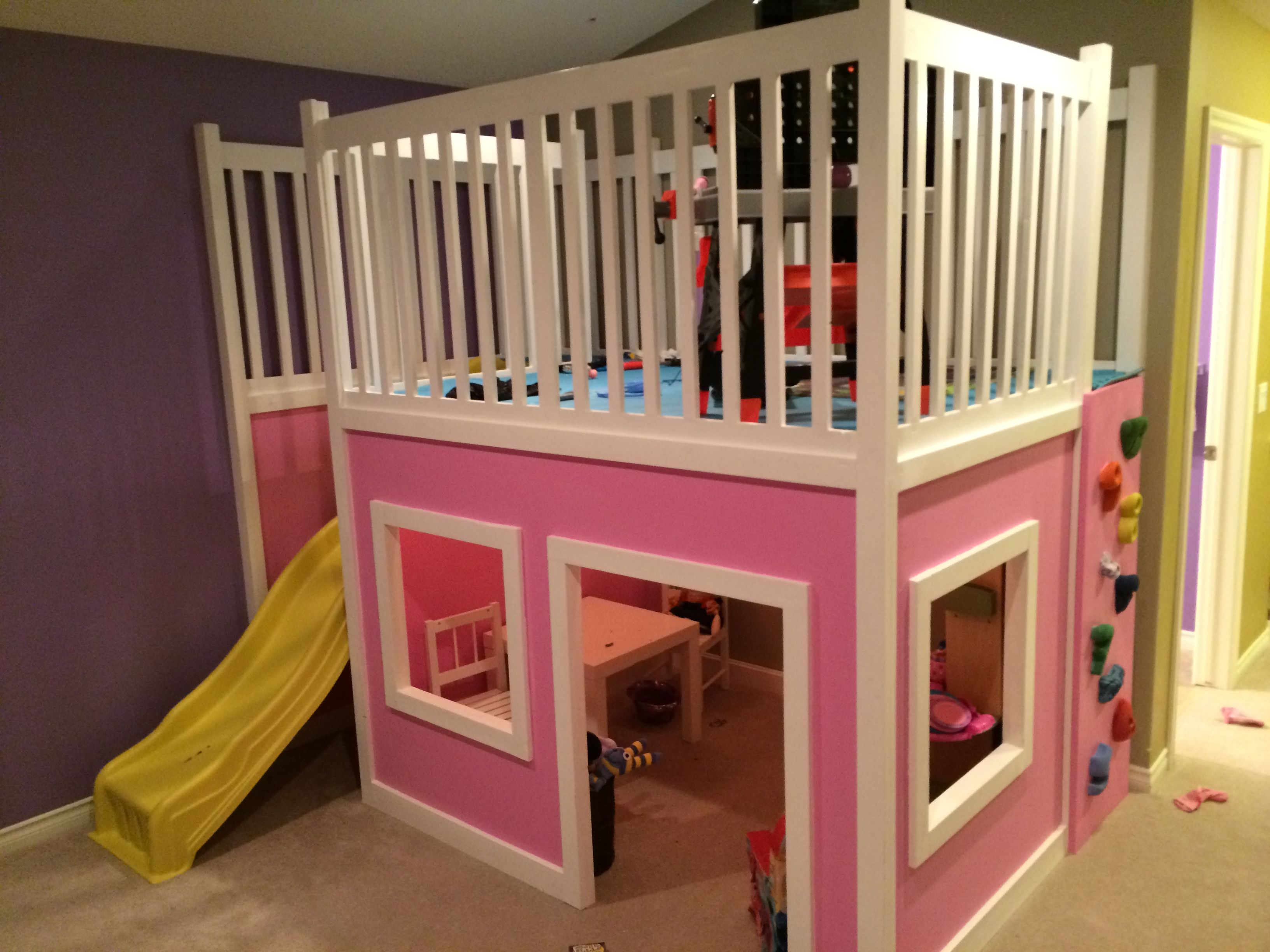 Diy Kids Beds Playhouse Loft Bed Do It Yourself Home Projects From Ana