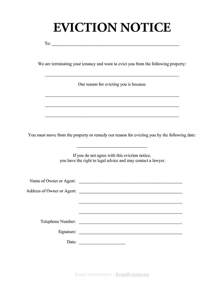 Printable Sample Eviction Notices Form legal Pinterest Real - copy of an eviction notice