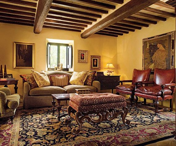 Tuscan Style Homes Interior Inspiring Design, Architecture - tuscan style living room