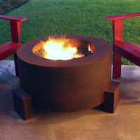 "30"" Round Cor-Ten Steel Fire Pit for $1,049.00 