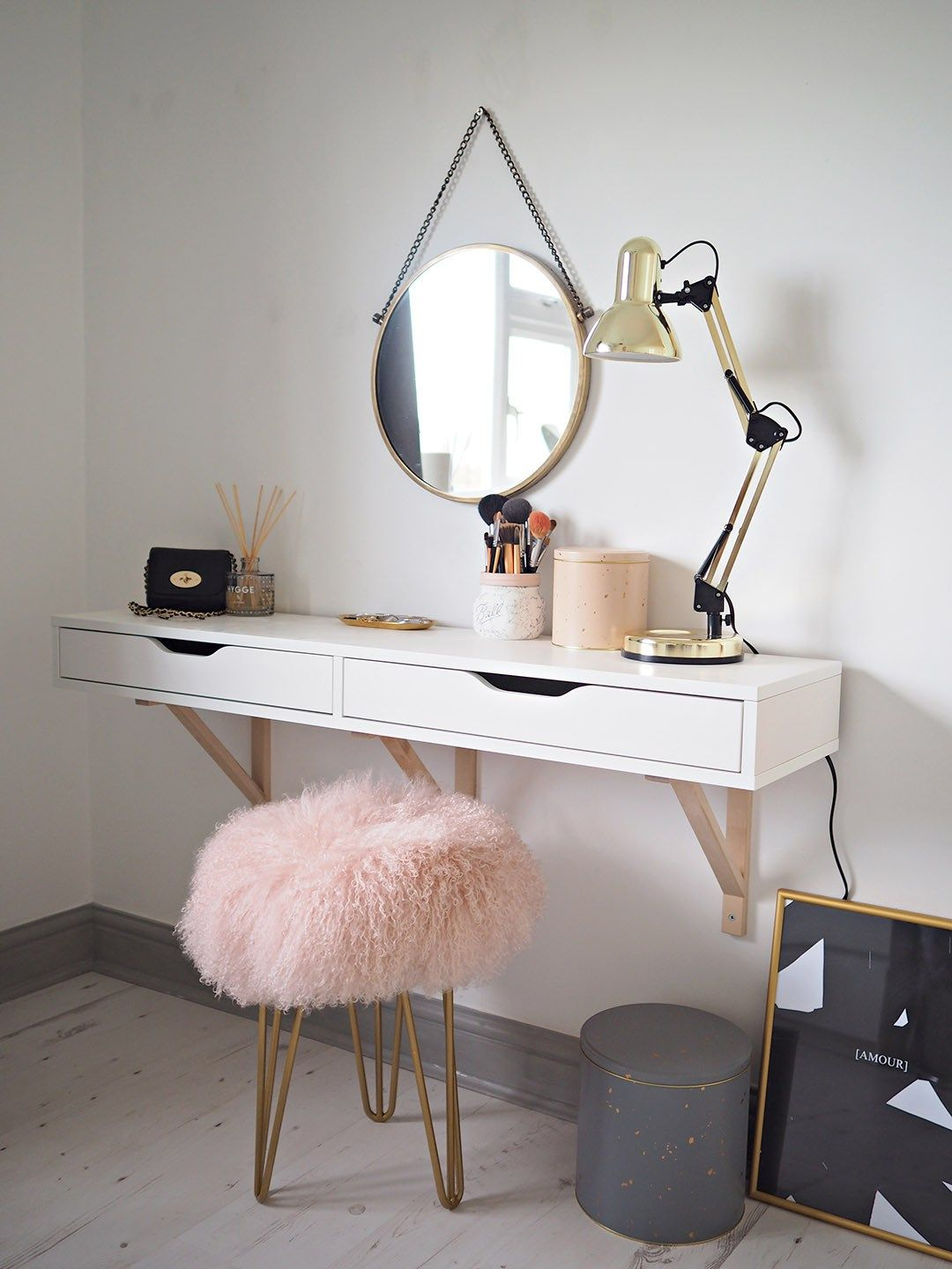 Small Vanity Dressing Table Scandi Dressing Table Schminkplatz Pinterest