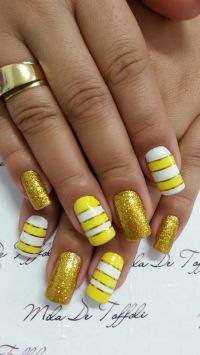 yellow nail art designs for 2016 | nail art styles ...