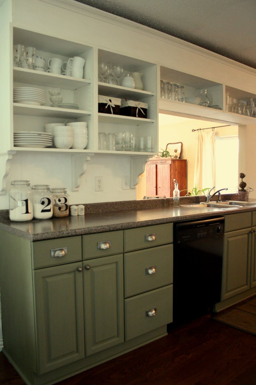 Black Base Cabinets White Upper Cabinets Green Lowers White Uppers With White Subway Tile And A