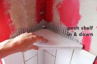 How to Install a Tile Shower Corner Shelf | Shower corner ...