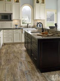 Perfect kitchen floor- no need to worry about real wood ...