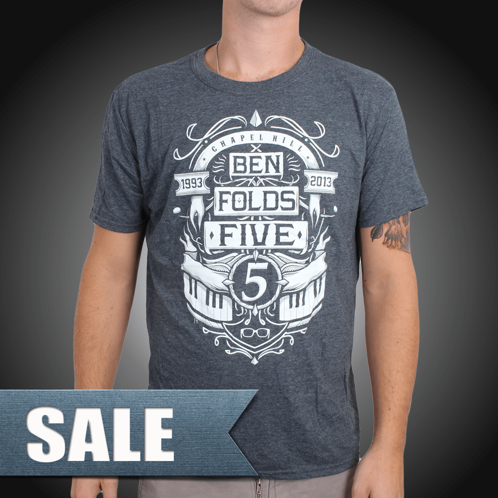 Ben folds five marquee design on a grey unisex t shirt