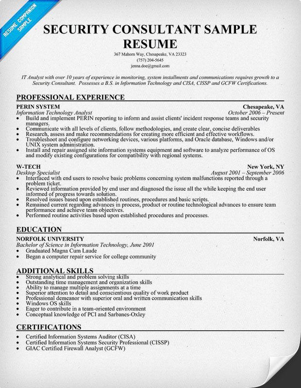 12 Sample Security Resume Riez Sample Resumes Riez Sample - security resume