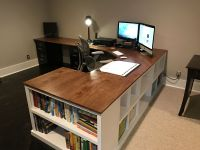 Cubby/Bookshelf/Corner Desk Combo - DIY Projects | Office ...