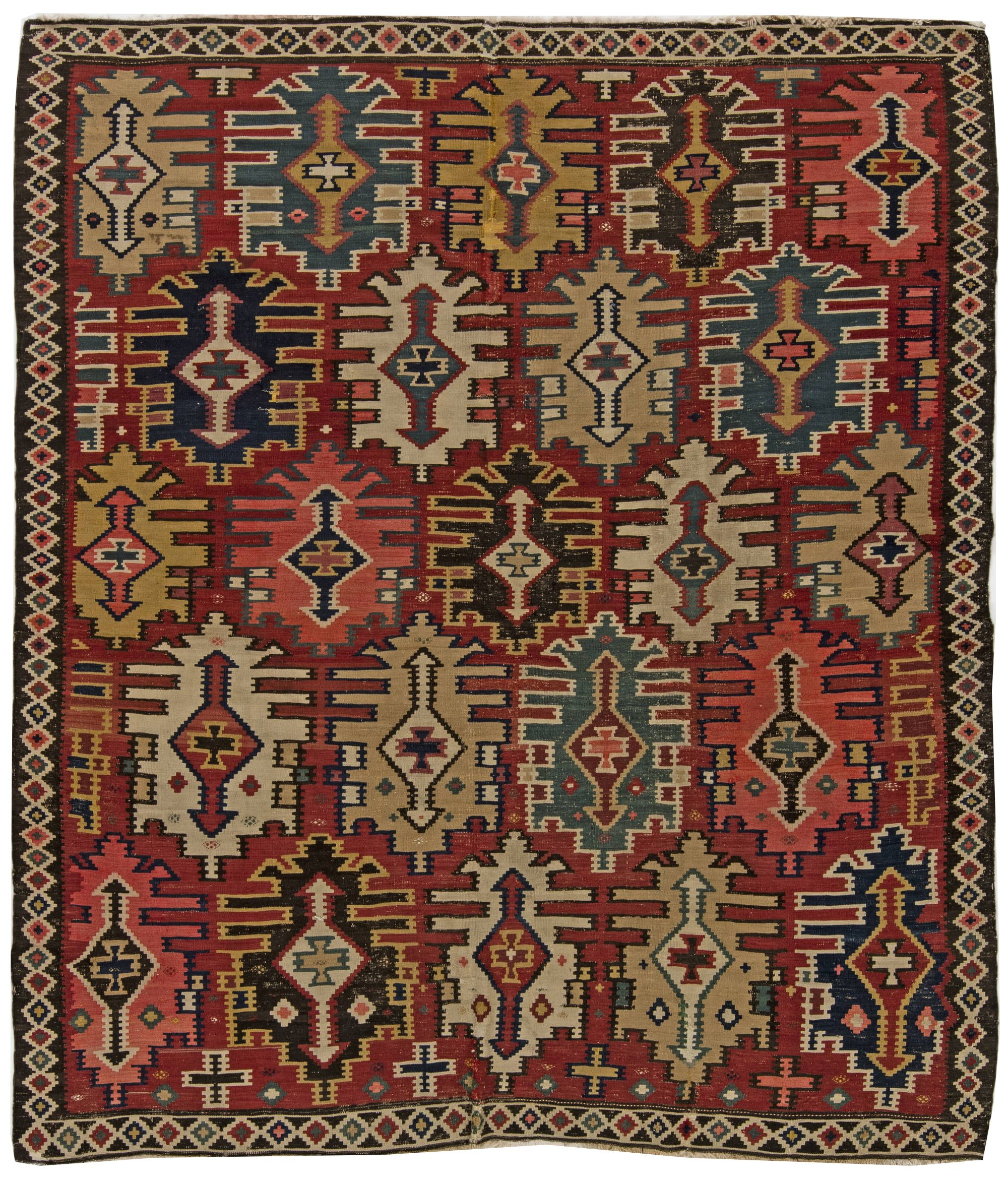 Rugs And Carpets Vintage Turkish Kilim Rug Bb6268 By Doris Leslie Blau