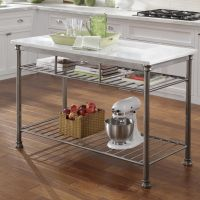 Home Styles Orleans Prep Table with Marble Top & Reviews ...