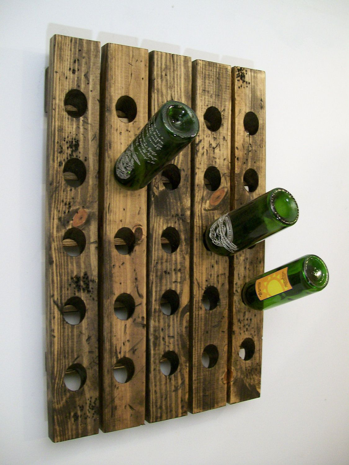 Antique Wooden Wine Rack Wine Riddling Rack Distressed Wood Gift For Dad Style