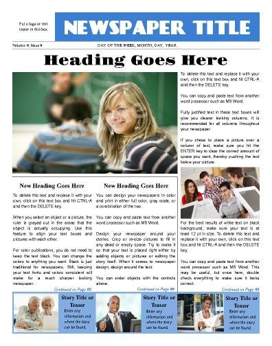Newspaper Templates u2026 u2026 Pinteresu2026 - online newspaper template