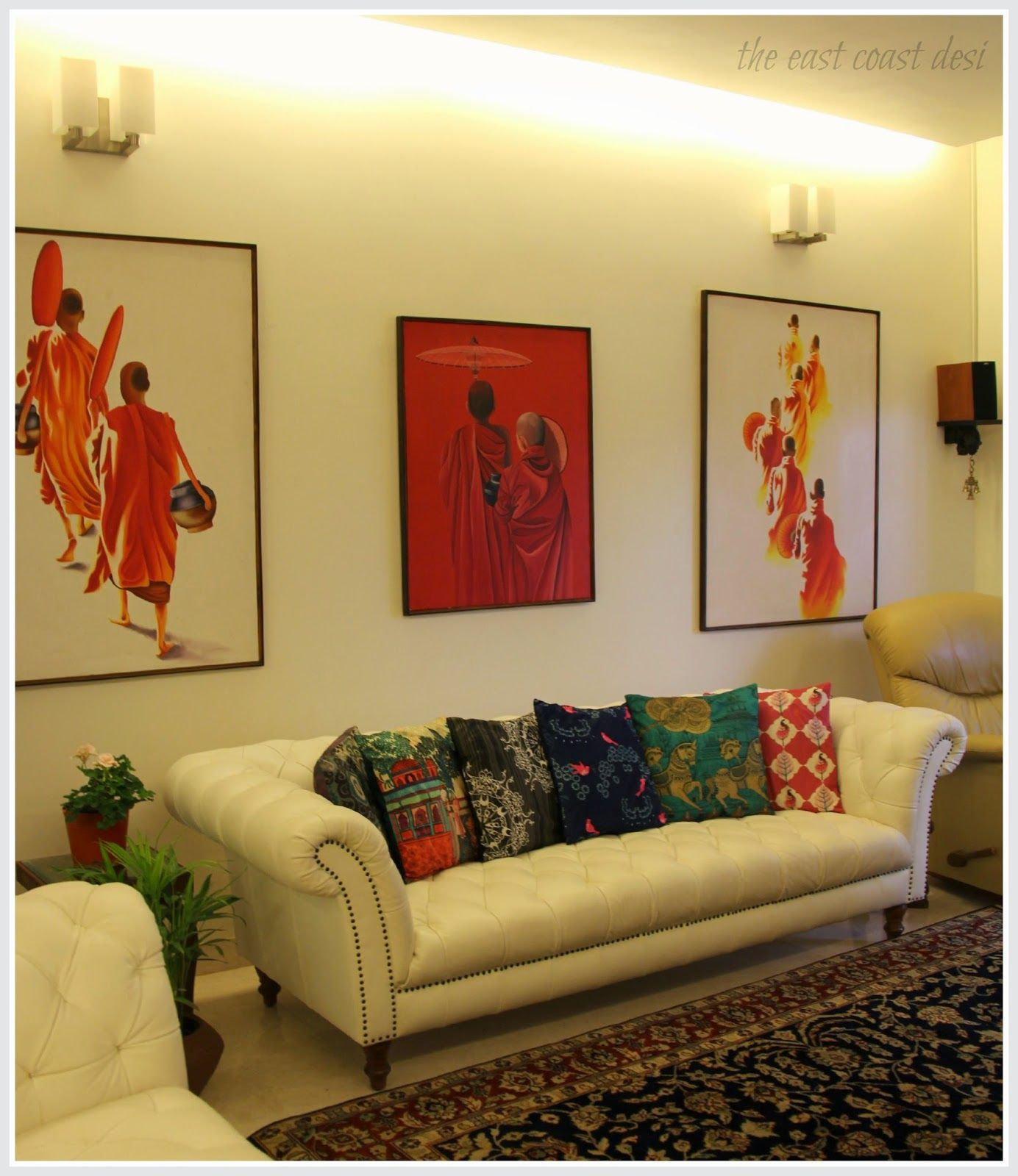 Indian Living Room Ideas India Circus Cushion Covers Patterned Rugs And Paintings
