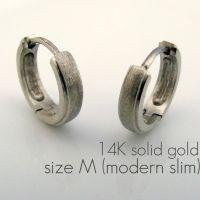 Men's hoop earring, matte mercury gold hoop earrings for ...
