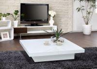 1005C - Modern White Lacquer Coffee Table - LA Furniture ...