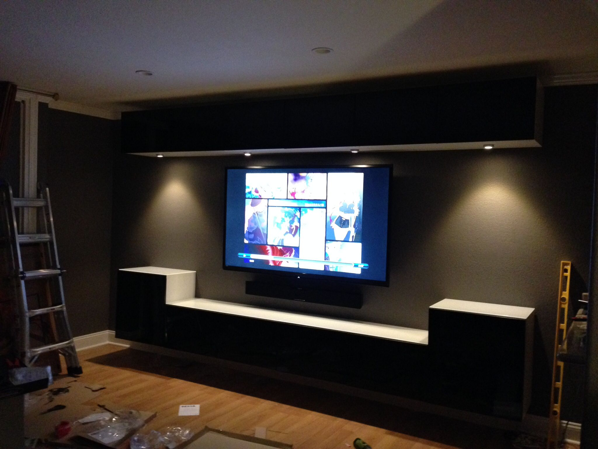 Wall Mounted Entertainment Unit Wall Mounted Ikea Bestas And Under Cabinet Lights With