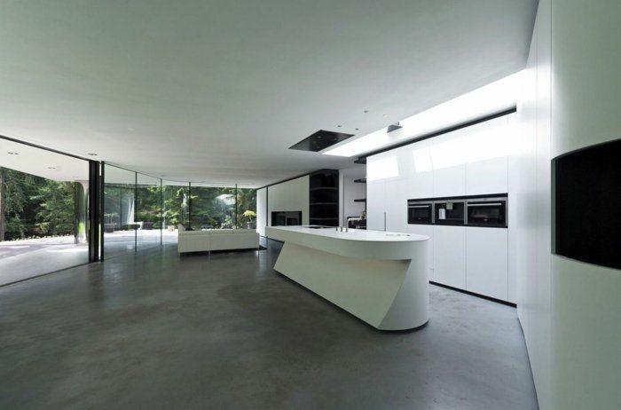 moderne kuche minimalistisch design | hwsc.us - Bett Mit Minimalistisch Grauem Design Bilder