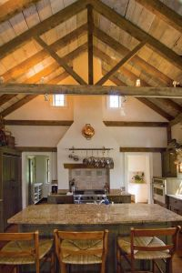 kitchen vaulted ceiling with open beams designs