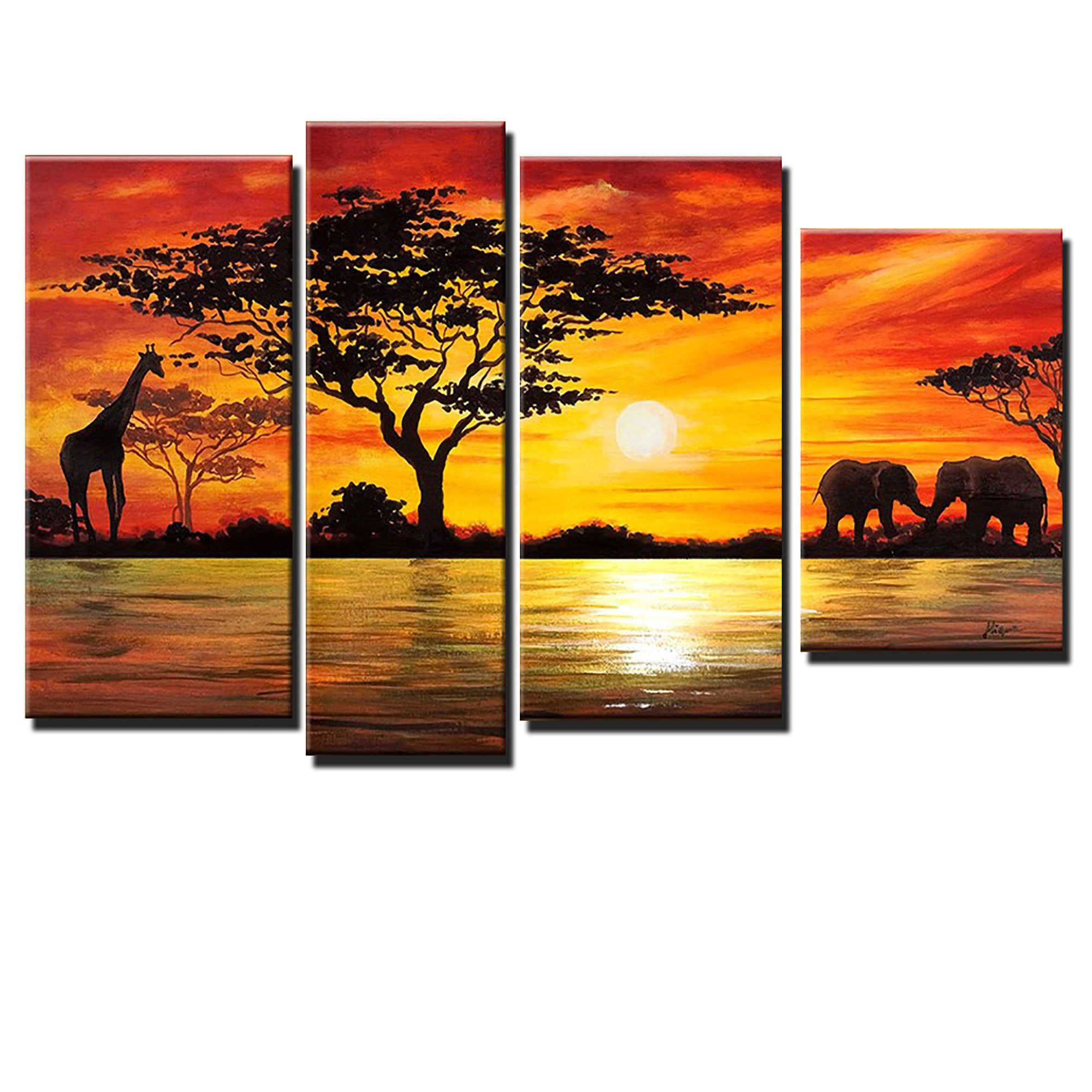 Beauty of Africa Canvas Wall Art Landscape Oil Painting