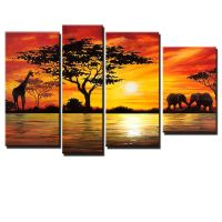 Beauty of Africa Canvas Wall Art Landscape Oil Painting ...
