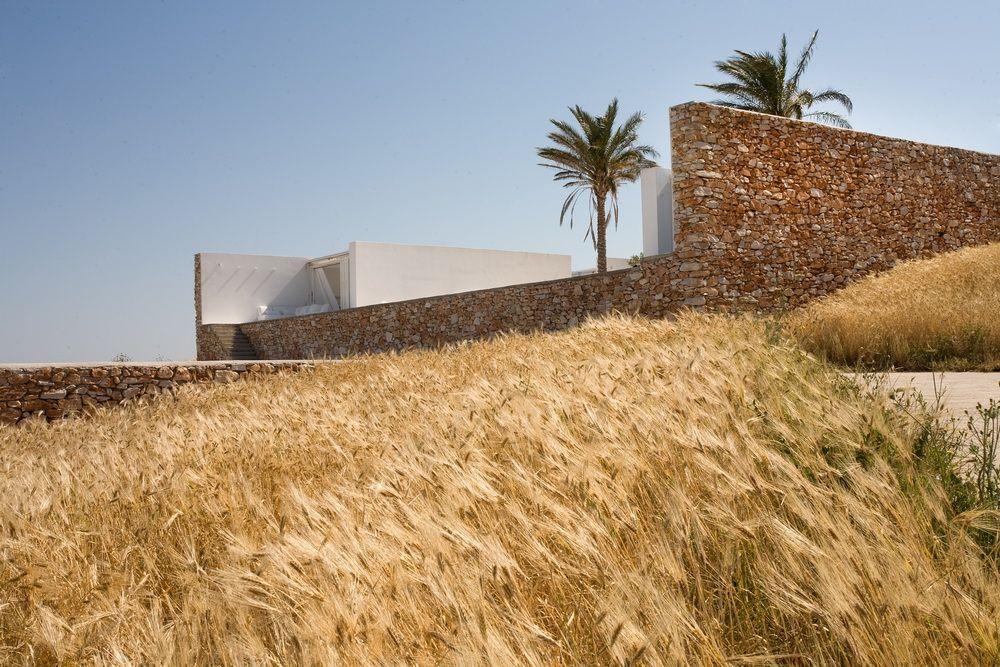 Villa galfetti paros greece arch pinterest