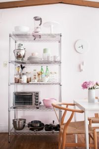How to Style Wire Shelves for a Living Space and Kitchen ...