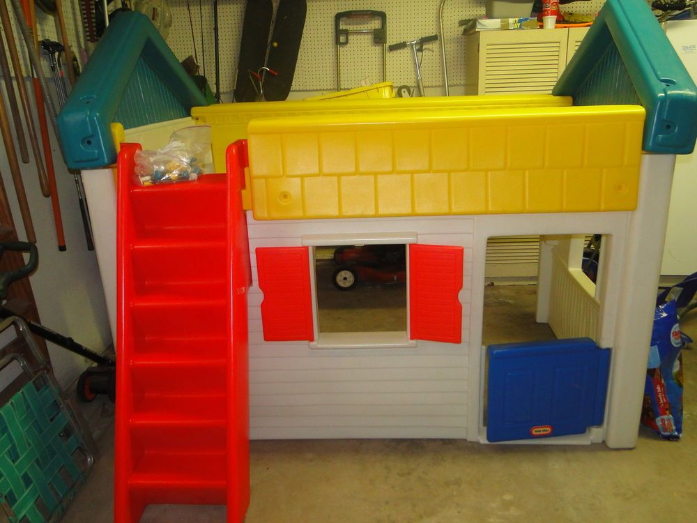 Little Tikes Twin Loft Play House Bed Rare Rare